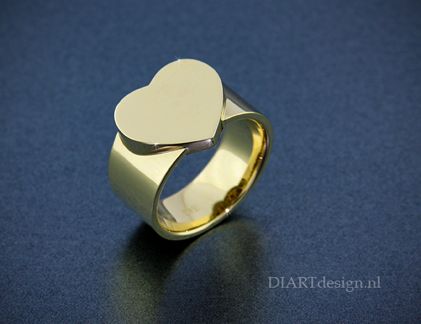 Gouden urn ring.